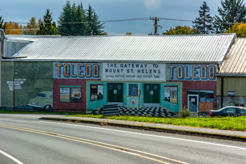 Mural in Downtown Toledo, Washington