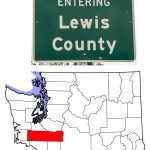 The Lewis County Highway Sign and Map showing Lewis County
