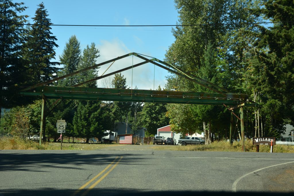 Entrance Arch to the community of Willard, population 46.