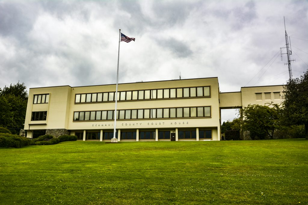 The Skamania County Courthouse, Stevenson, Washington