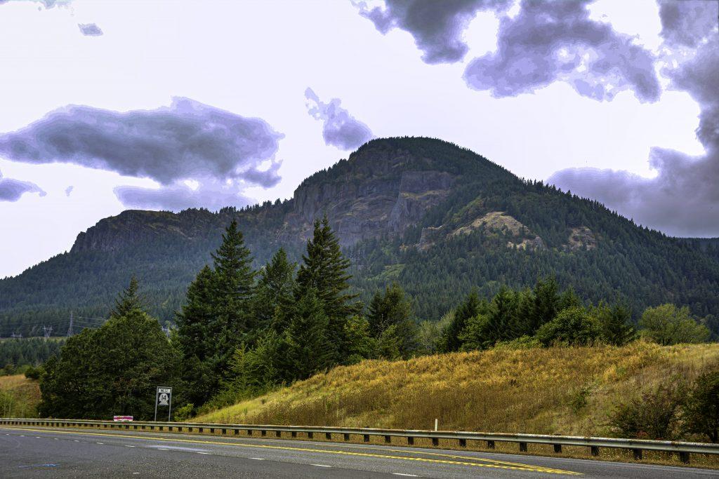Washington Highway 14 passing through the Cascade Mountains