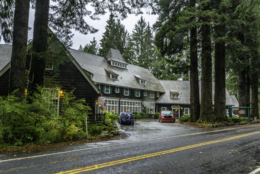 The front of the Lake Quinault Lodge, Olympic National Park, northwestern Grays Harbor County