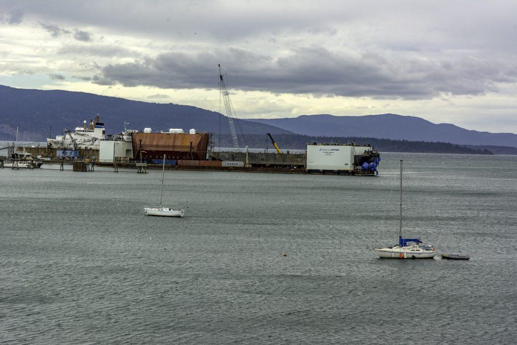 The Alaska Marine Highway's southern terminus, Fairhaven harbor, Bellingham, Washington.