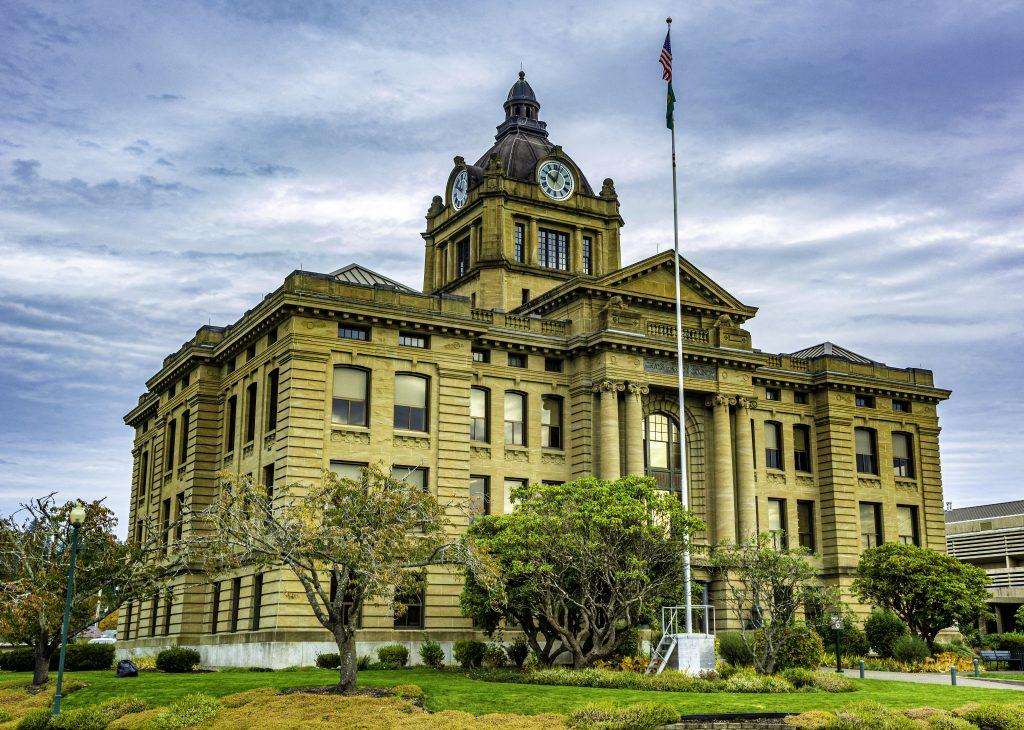The Grays Harbor County Courthouse, Montesano, Washington