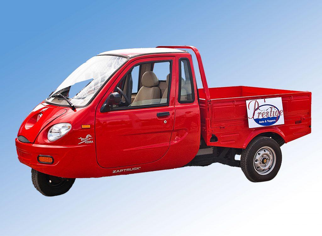 A Zap! Xebra pickup in red