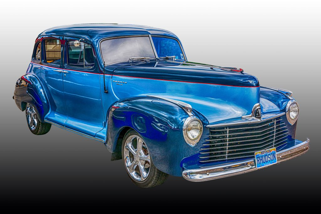 A customized 1940s Hudson Super Six.  Link takes you to my RedBubble sales gallery.