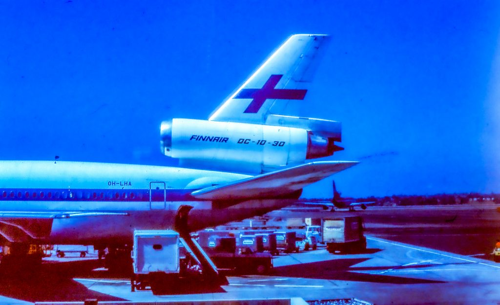 A FinnAir DC10 at Los Angeles International