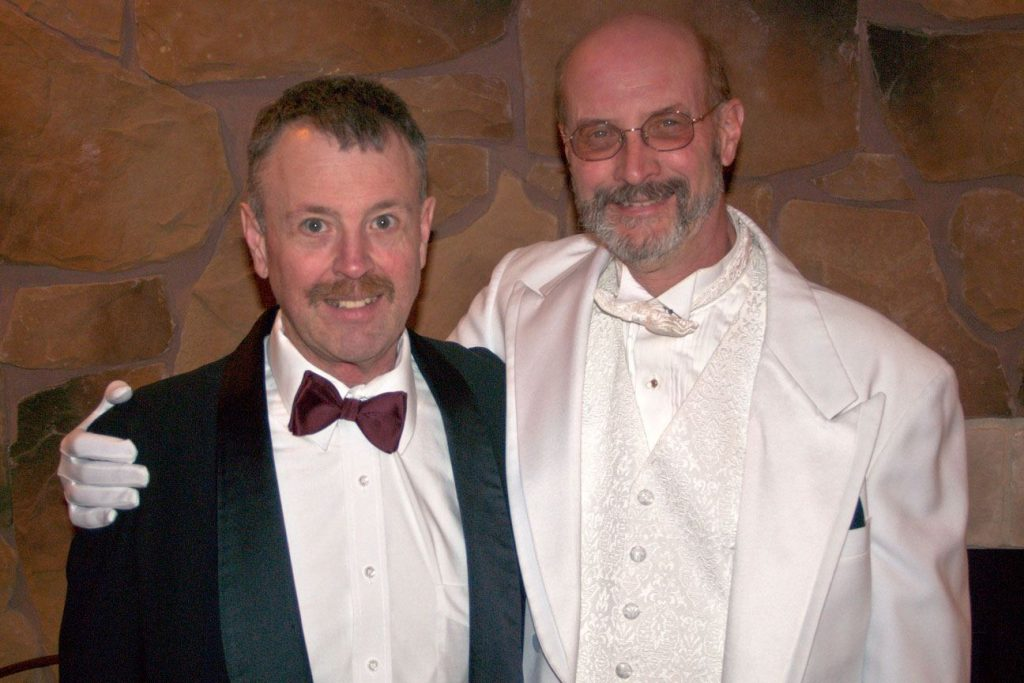 Kevin and I at the Black and White Ball--Gay Male Romance