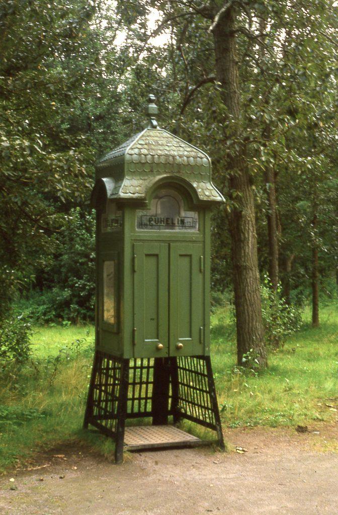 An antique telephone box at Seurasaari Park
