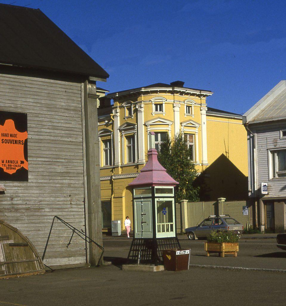 A street scene in Oulu, Finland, another of my sidetrips in Finland in 1985.