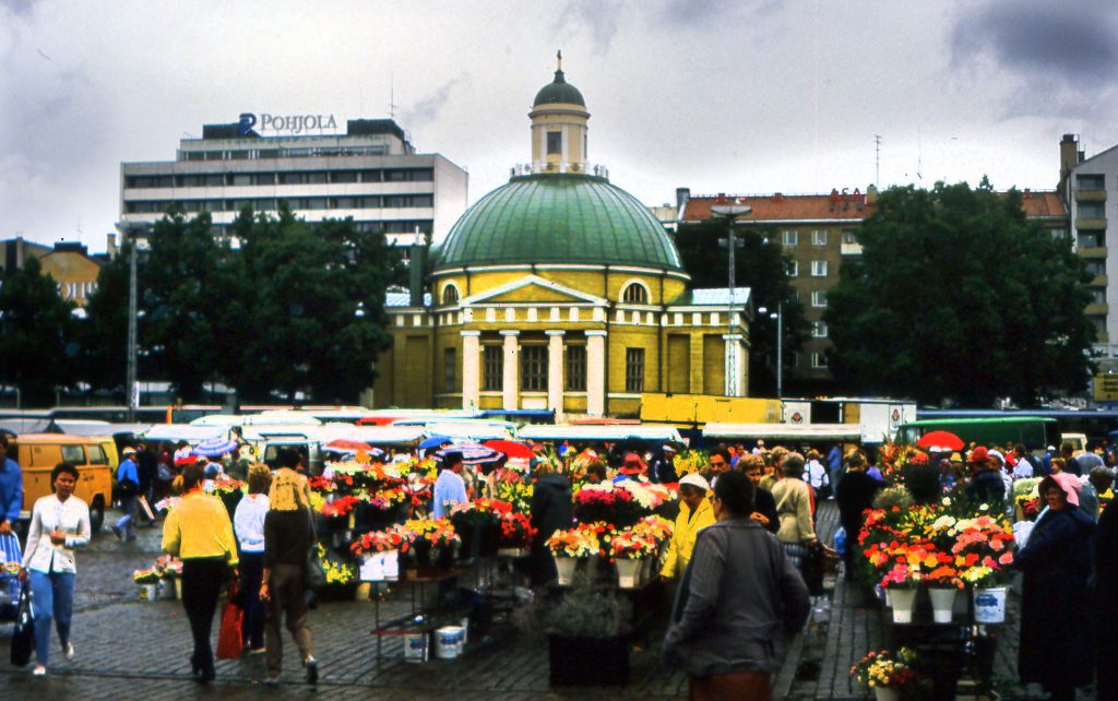 The Flower Market in the Rain