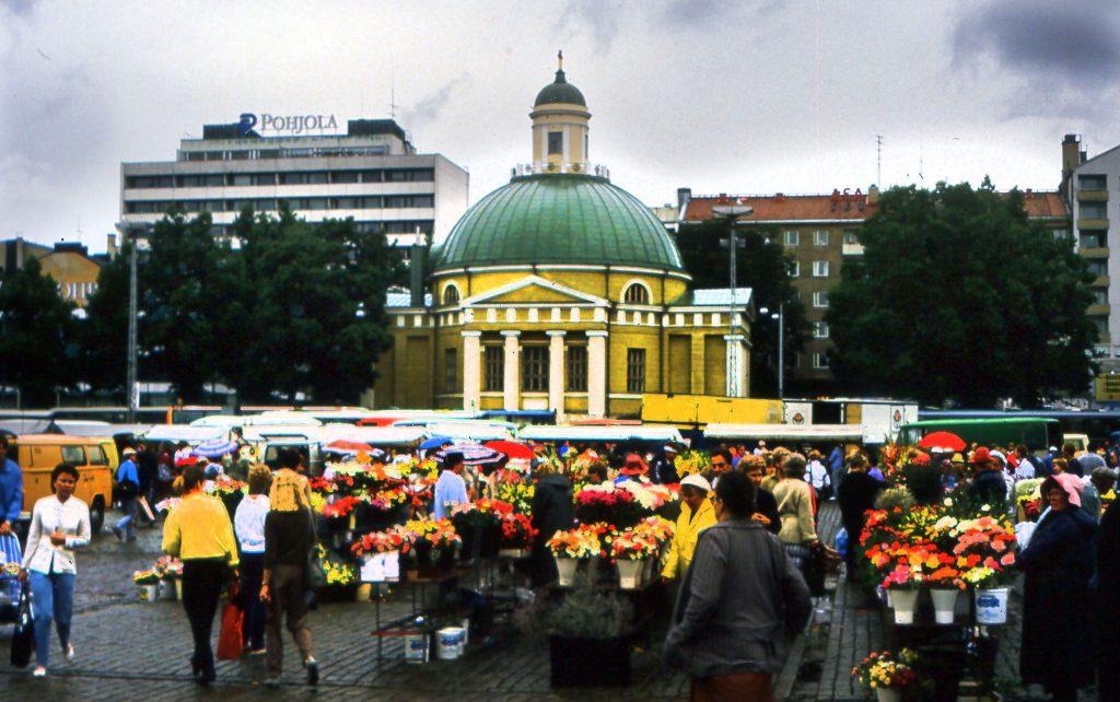 The Flower Market in the Rain