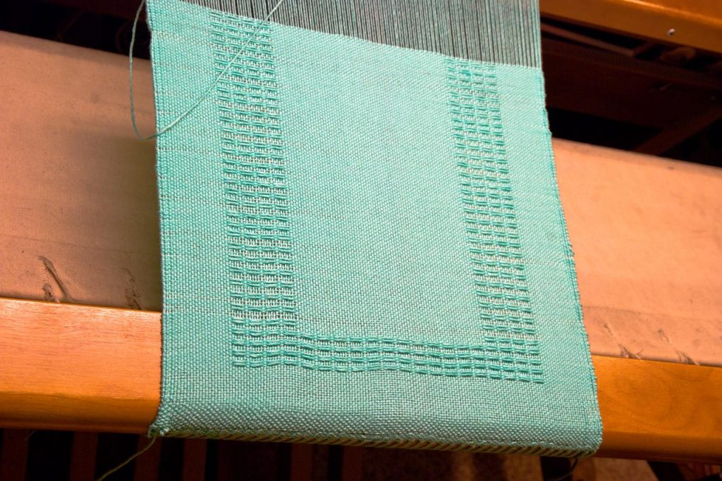 Huck Lace Placemats on the loom--weaving I have done over the years