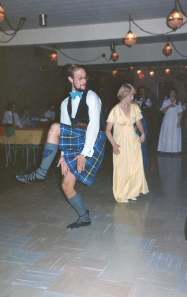 The Author at a Scottish Country Dance Ball, All Things Scotland