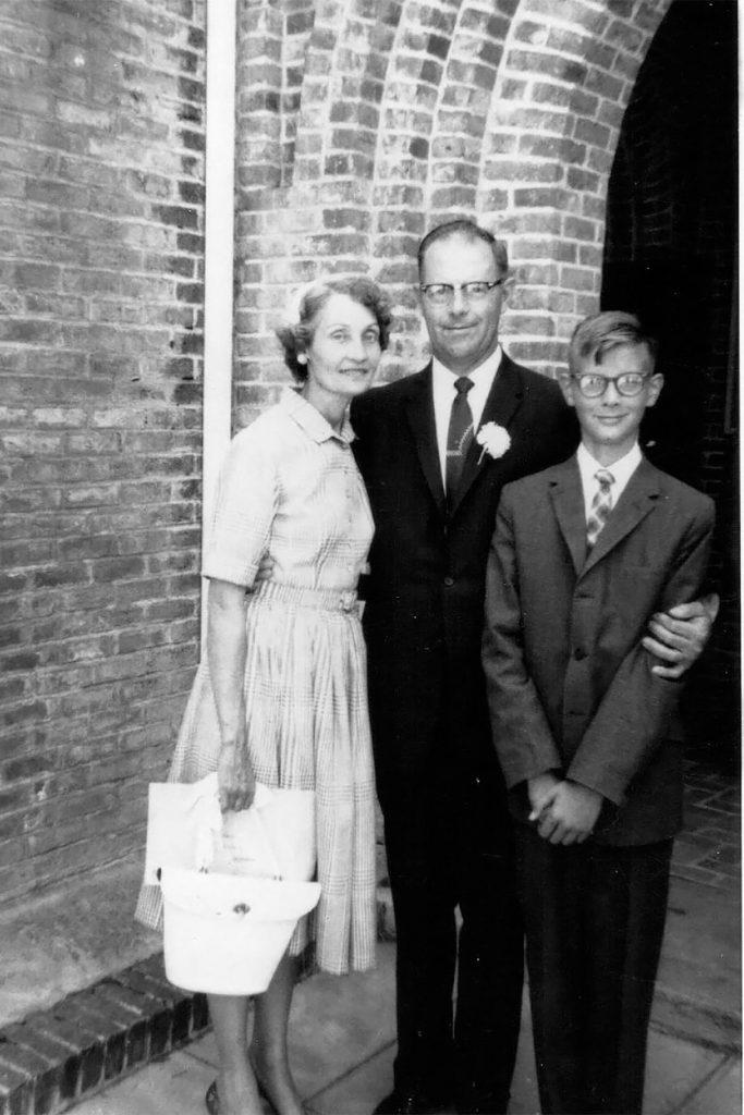 Momma, Poppa and Me, Easter Sunday 1962, Trinity Methodist Church, Colusa, California