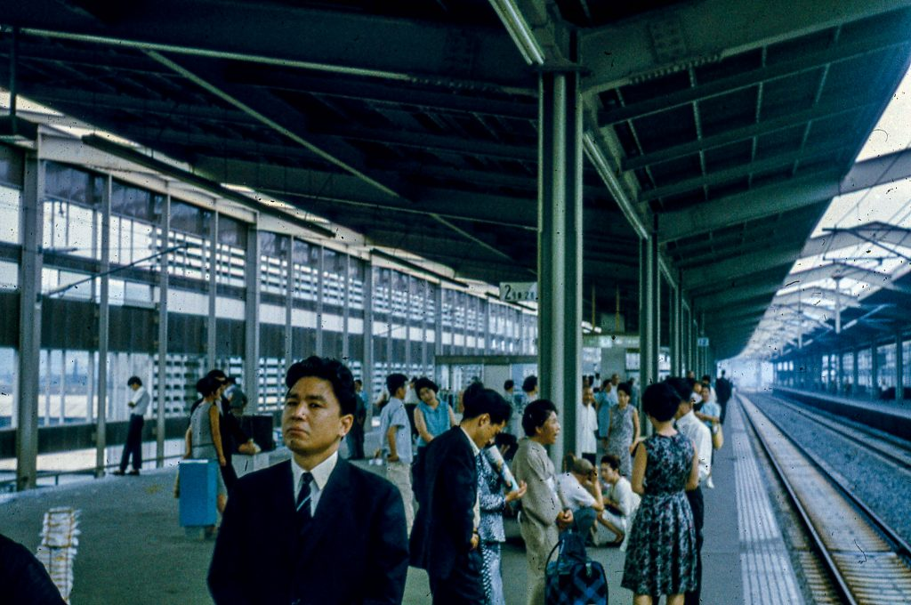 The Railway Platform for the Bullet Train, one of the ways of riding the rails in Japan.
