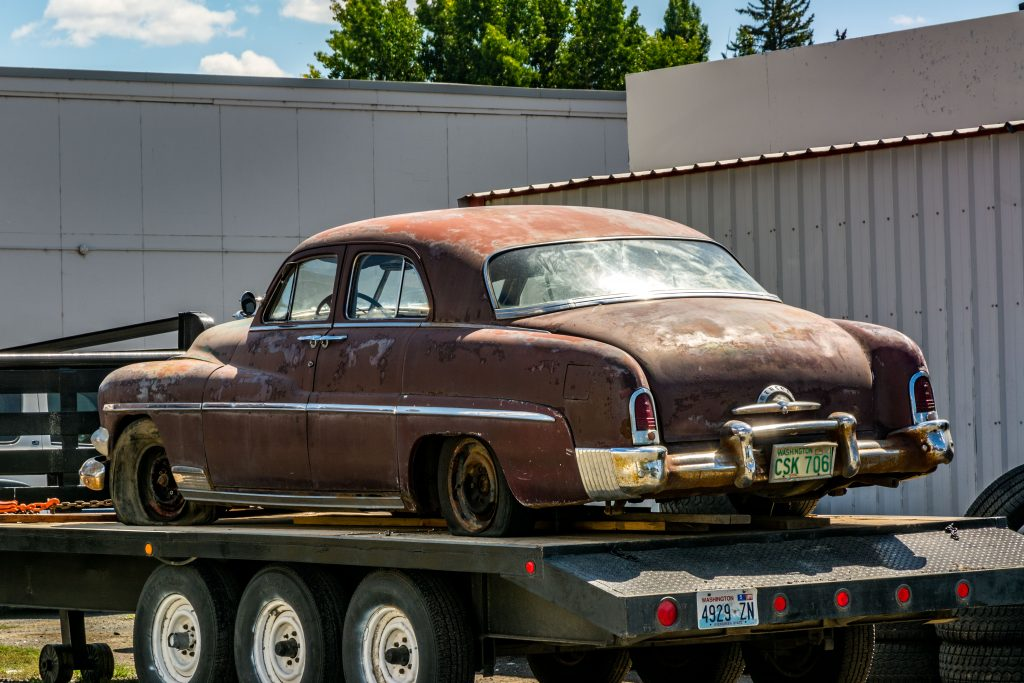 A 1951? Mercury Eight, found in Wilbur, Washington on the road to Republic.