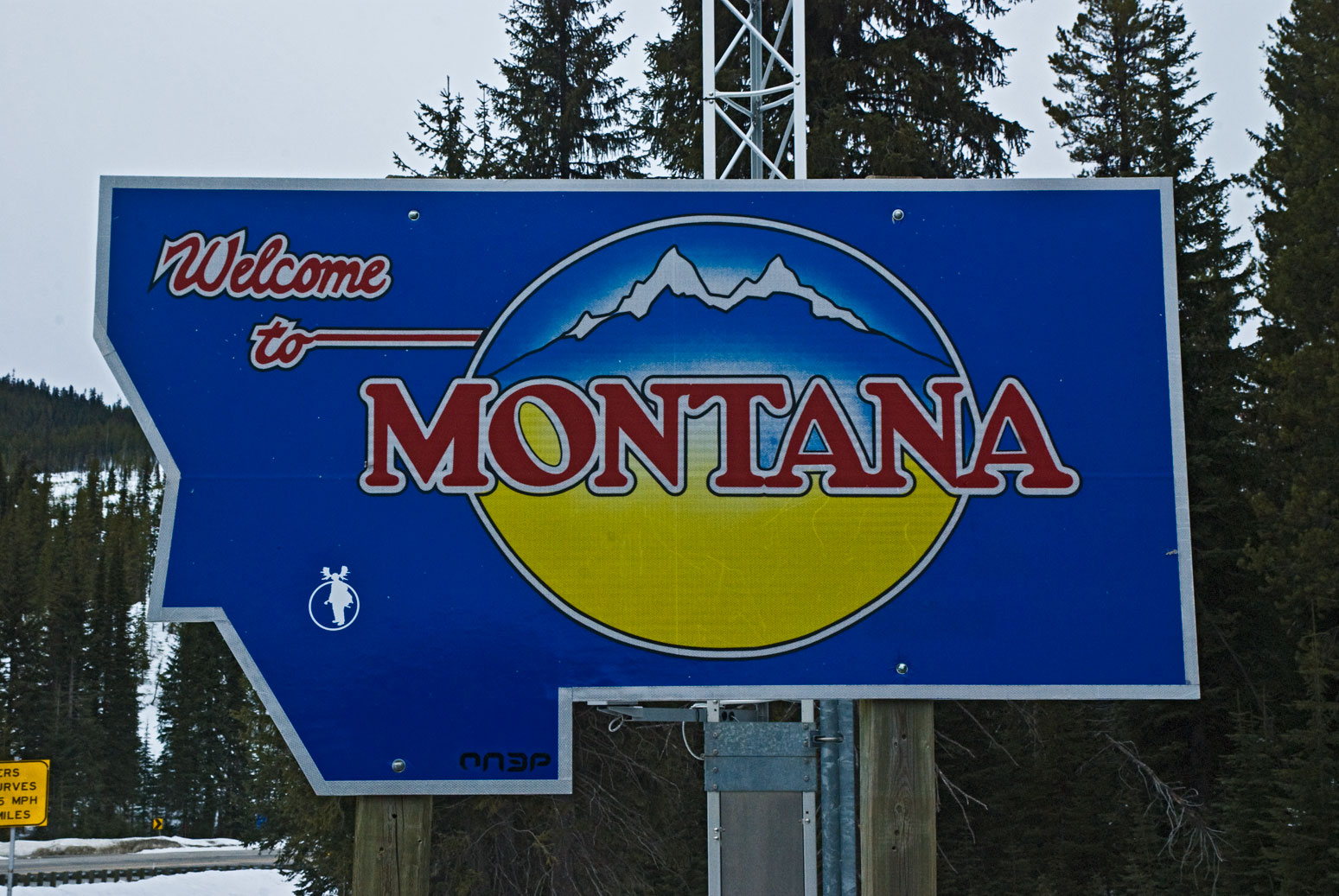 The Welcome to Montana Sign