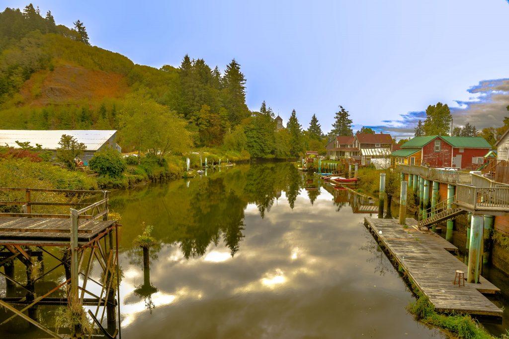 Skamokawa Slough, Wahkiakum County, Washington