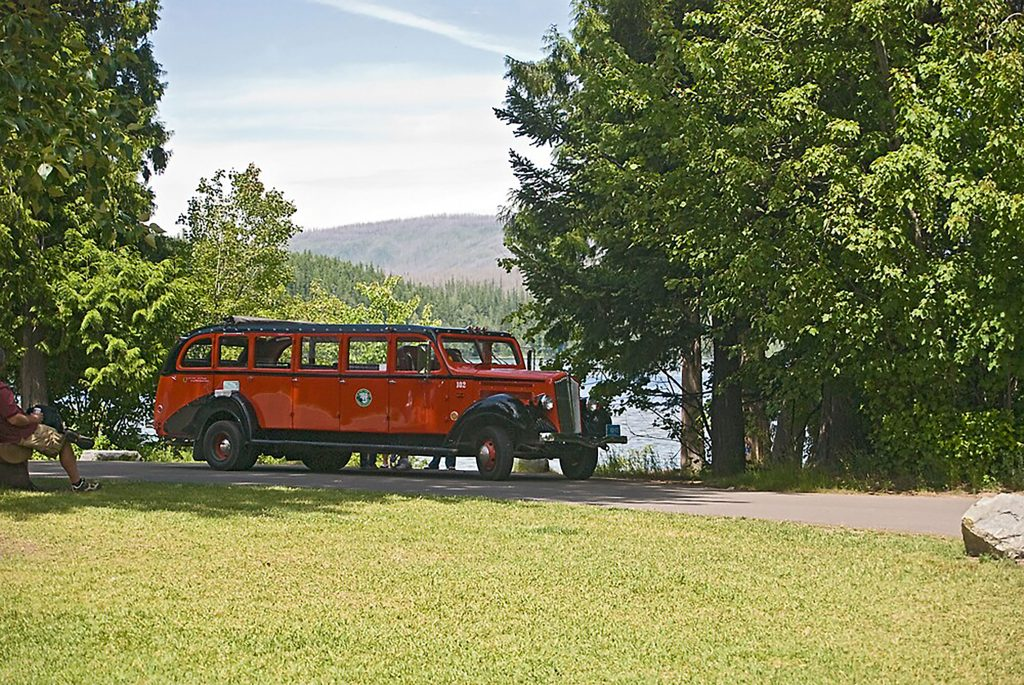 A Red Jammer Bus at Apgar Village, Glacier National Park My last photography sale for 2009.