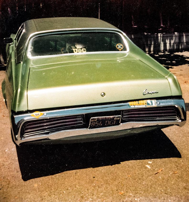 My 1971 avocado green Mercury Cougar