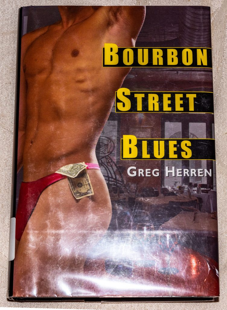 Greg Herren 's Book Bourbon Street Blues.  Link takes you to my Amazon Affiliate site in case you want to buy the book.