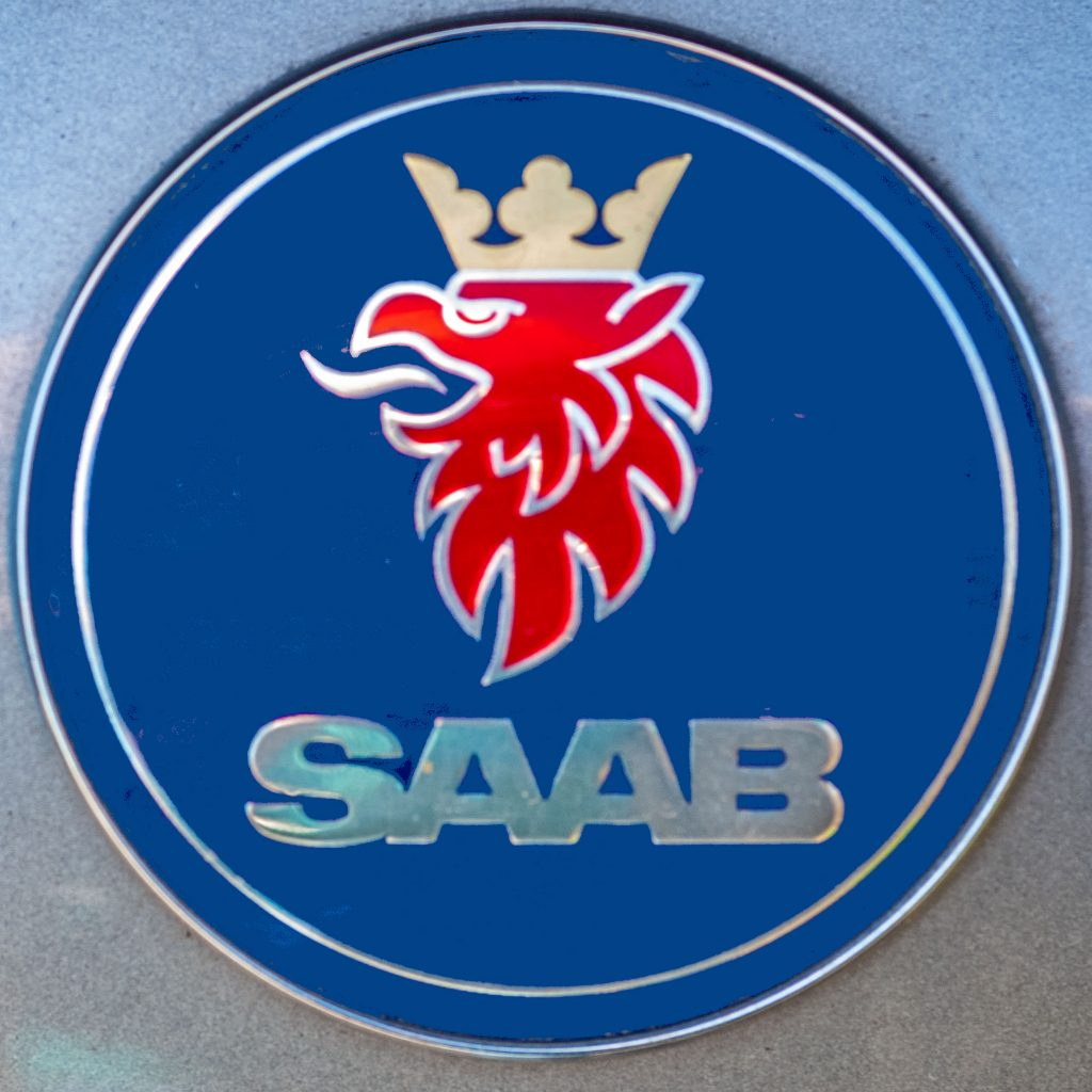 The Griffon Badge, symbol of both Saab Automobiles and Saab Aircraft.