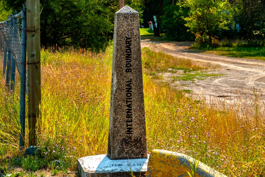 The International Boundary Marker at Eastport Idaho/Yahk British Columbia  Link takes you to my RedBubble sales gallery.