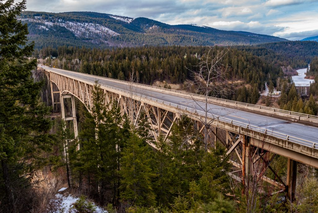 The Moyie River Bridge, Moyie Springs, Idaho.  Link takes you to my RedBubble sales gallery.