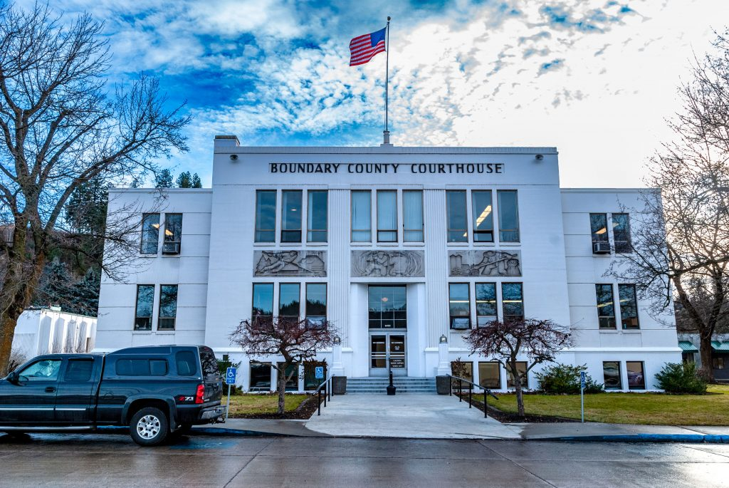 The Boundary County Courthouse, Bonner's Ferry, Idaho.  Link takes you to my RedBubble sales gallery.
