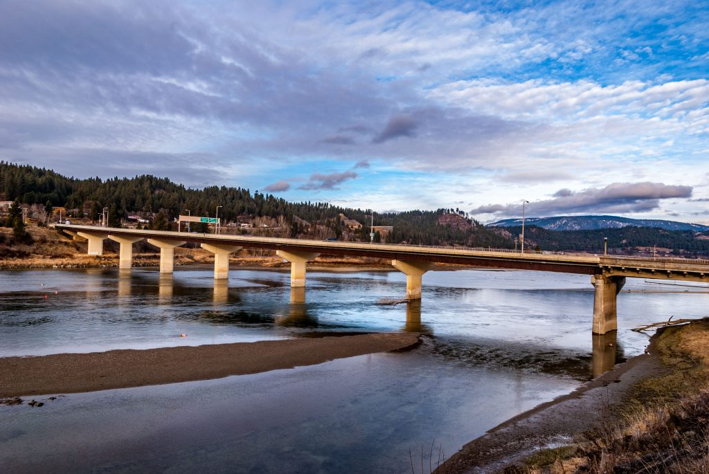 The Kootenai River Bridge, Bonner's Ferry, Boundary County Idaho.   Link takes you to my RedBubble sales gallery.