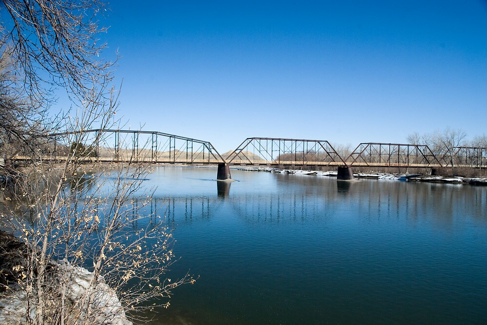 The Missouri River and Bridge at Fort Benton, Montana.  Link takes you to my RedBubble sales gallery.