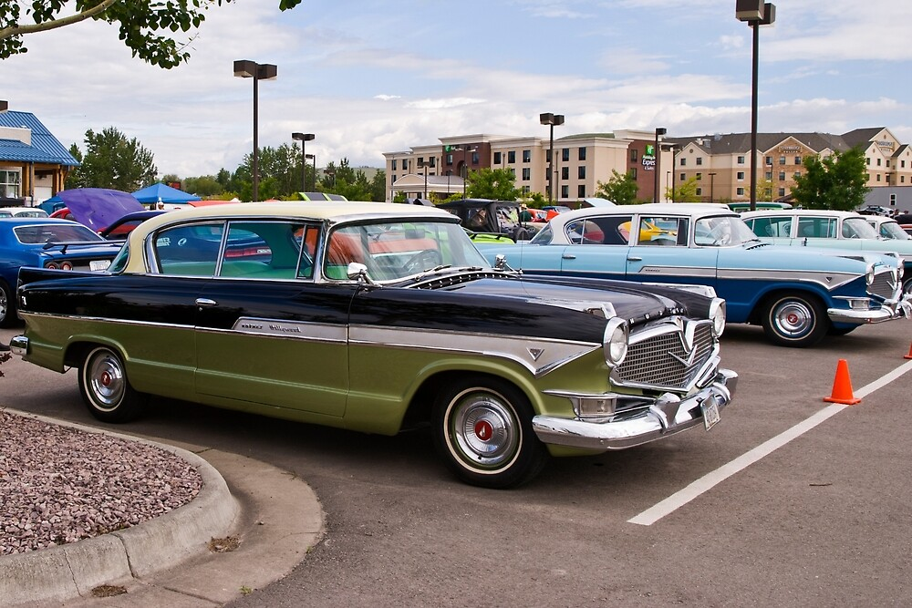 A pair of 1957 Hudson Motor Cars.  The last year for the name.  Link takes you to my RedBubble sales gallery.