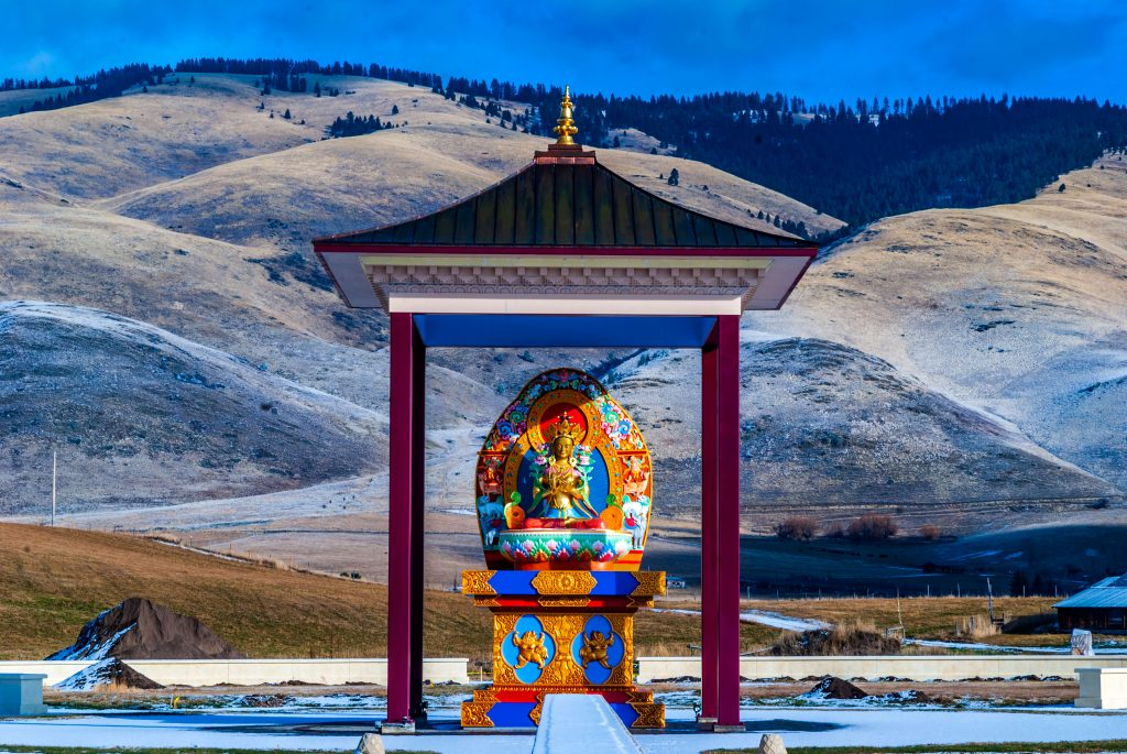 Yum Chenmo--The Great Mother at Ewam Garden of 1000 Buddhas near Arlee, Montana.  The link goes to my RedBubble sales gallery,  Taken during the third week in December.