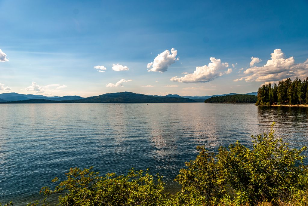 Lake Pend Oreille, the largest lake in Idaho and the center of Bonner County Idaho.  Link takes you to my RedBubble sales gallery.