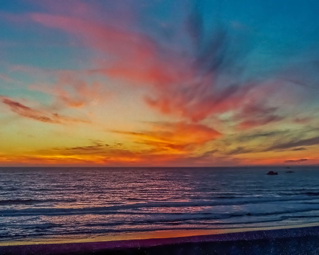 My first photography sale--sunset over the Pacific