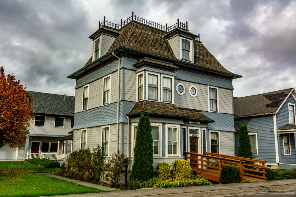The D.O. Pearson Home, Stanwood, Washington.  Link takes you to my RedBubble sales gallery.