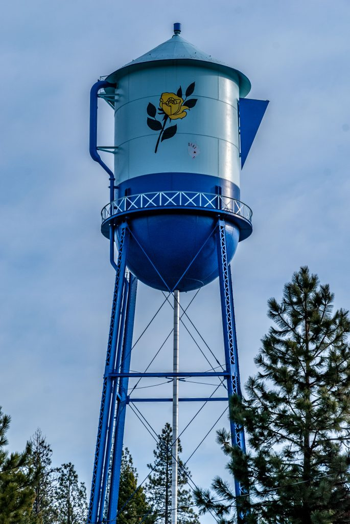 The Water Tower in Spirit Lake, Idaho.  Link takes you to my RedBubble sales gallery.