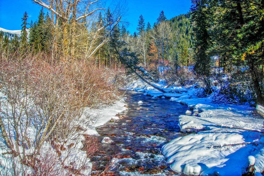Rattlesnake Creek in January.  Link takes you to my RedBubble sales gallery.