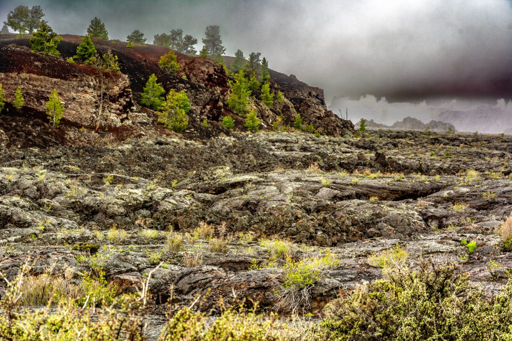The rocky landscape of Craters of the Moon National Monument and Preserve.   Link takes you to my RedBubble sales gallery.