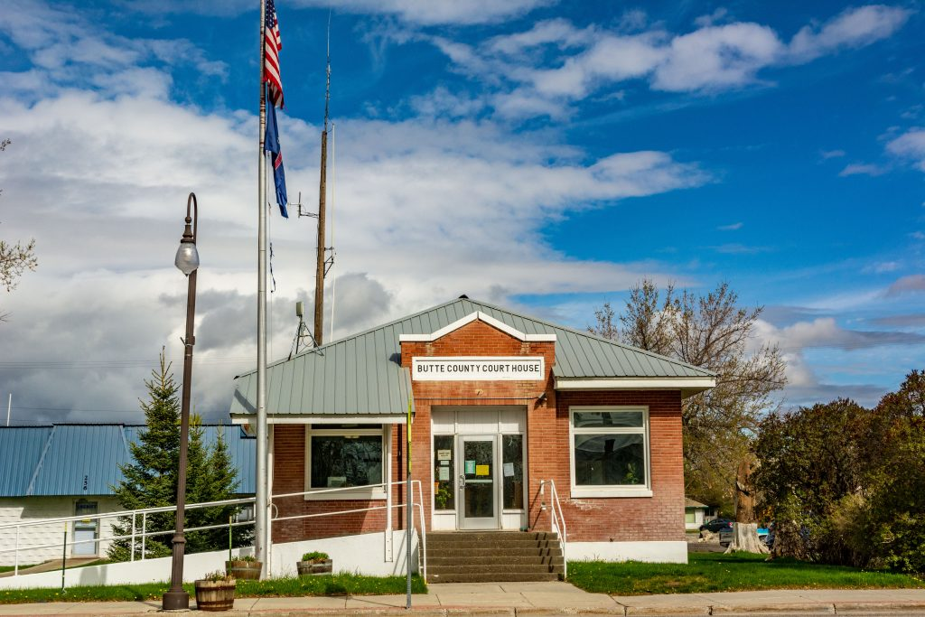 The Butte County Courthouse, Arco, Idaho.