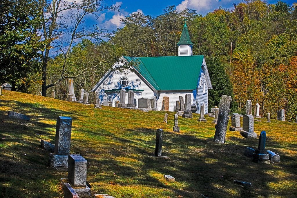 Mount Olive United Methodist Church and cemetery, Jarvisville, West Virginia.  The first of my photography sales for 2013.  Link takes you to my RedBubble sales gallery.