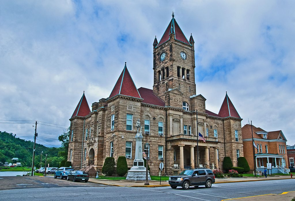 The Wetzel County Courthouse, New Martinsville, West Virginia.  One of the first photography sales of 2013.  Link takes you to my RedBubble sales gallery.