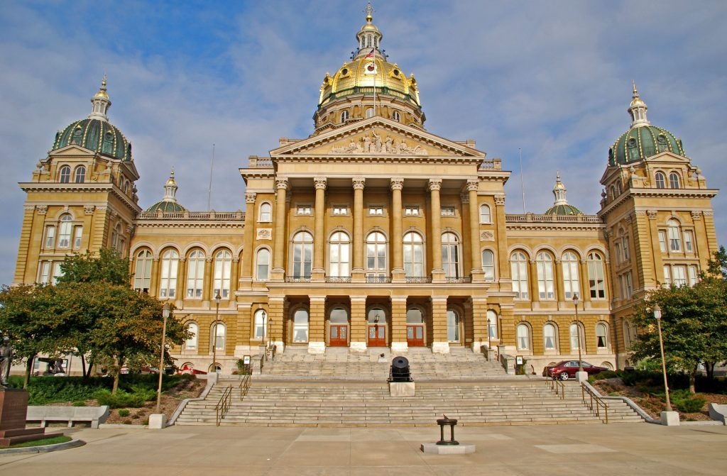The Iowa State Capitol, Des Moines, Iowa.  Link takes you to my RedBubble sales gallery.