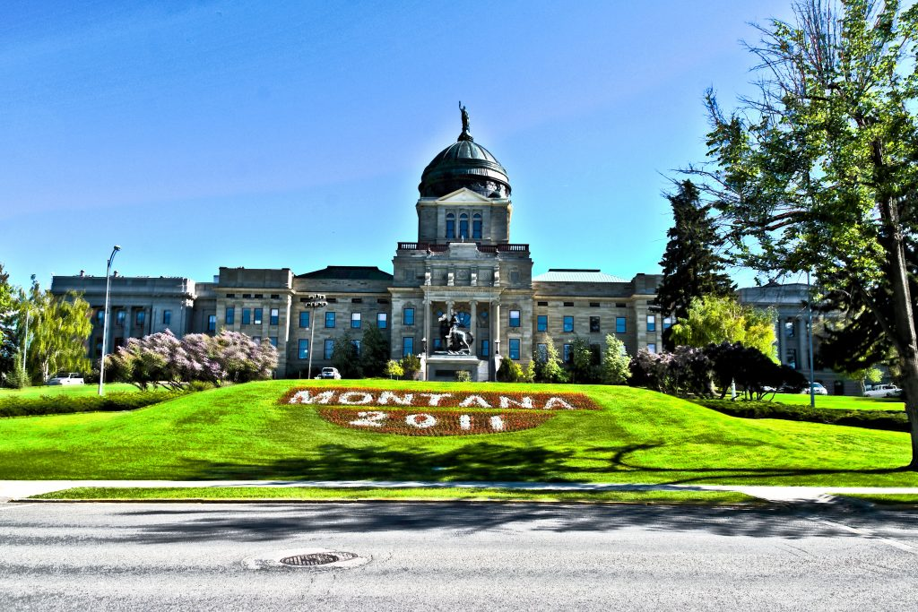 The Montana State Capitol, Helena, Montana.  Link takes you to my RedBubble sales gallery.